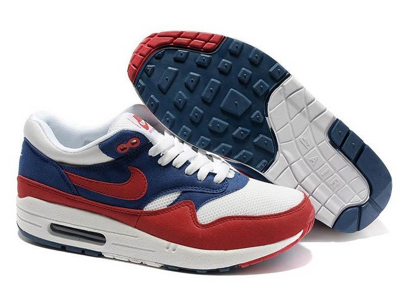 Кроссовки Nike Air Max 87 красно-синие с белым мужские