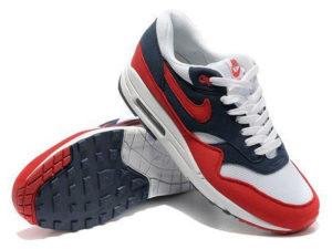 Кроссовки Nike Air Max 87 красно-синие с белым мужские - фото спереди
