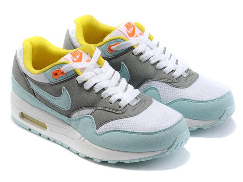 Кроссовки Nike Air Max 87 серо-бирюзовые женские