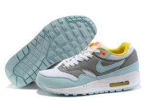 Кроссовки Nike Air Max 87 серо-бирюзовые женские - общее фото
