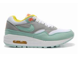 Кроссовки Nike Air Max 87 серо-бирюзовые женские - фото слева