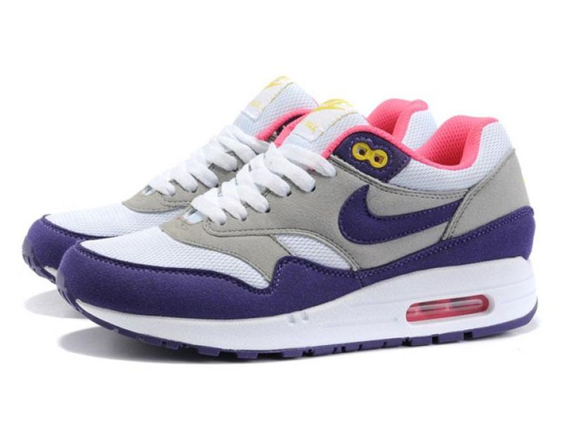 a0b925ab Кроссовки Nike Air Max 87 серо-фиолетовые женские - купить в ...