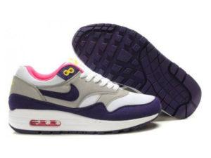 Кроссовки Nike Air Max 87 серо-фиолетовые женские - общее фото