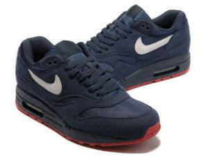 Кроссовки Nike Air Max 87 темно-синие мужские - фото спереди