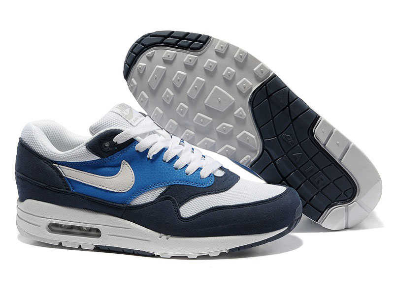 0c9dc424 Кроссовки Nike Air Max 87 темно-синие с белым мужские - купить в ...