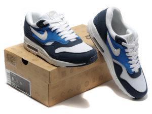 Кроссовки Nike Air Max 87 темно-синие с белым мужские - общее фото