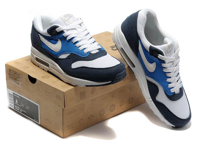 06cdc571 ... Кроссовки Nike Air Max 87 темно-синие с белым мужские - общее фото