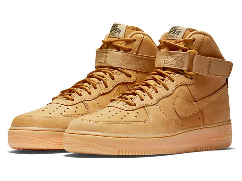 13dffa46 Кроссовки Nike Air Force 1 Mid песочные мужские - купить в интернет ...