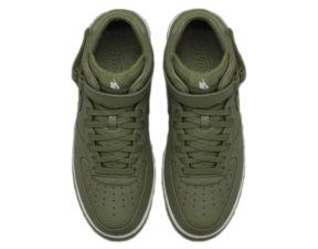 Кроссовки Nike Air Force 1 Mid болотные - фото сверху