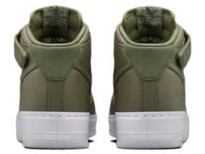 Кроссовки Nike Air Force 1 Mid болотные - фото сзади