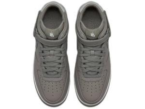 Кроссовки Nike Air Force 1 Mid серые - фото сверху