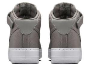 Кроссовки Nike Air Force 1 Mid серые - фото сзади