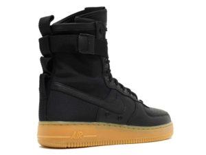 Кроссовки Nike Air Force 1 Special Field черные мужские - фото сзади