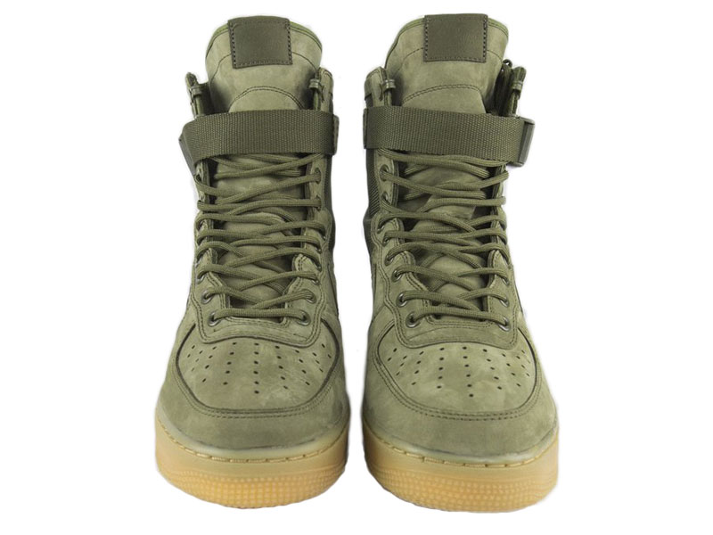 9c1c6be5 Кроссовки Nike Air Force 1 Special Field зеленые мужские - фото спереди ...