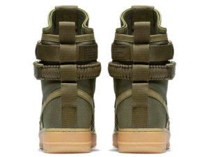 Кроссовки Nike Air Force 1 Special Field зеленые мужские - фото сзади