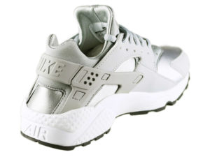 Кроссовки Nike Air Huarache Run Wolf серые мужские - фото сзади