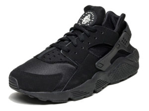 Кроссовки Nike Air Huarache Ultra черные мужские - фото спереди