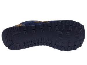 Зимние New Balance 574 темно-синие с коричневым - фото подошвы