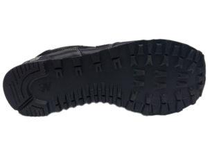 Зимние New Balance 574 Leather черные с белым - фото подошвы