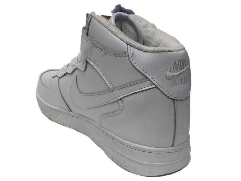 dc50334c ... Зимние Nike Air Force 1 Low Leather Fur белые мужские и женские - фото  сзади