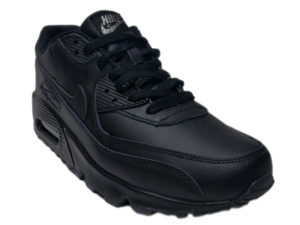 Зимние Nike Air Max 90 VT Low Leather Fur черные - фото спереди