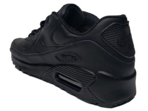 Зимние Nike Air Max 90 VT Low Leather Fur черные - фото сзади