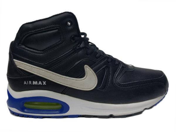 Зимние Nike Air Max 90 Skyline Leather черные с белым