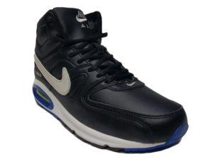 Зимние Nike Air Max 90 Skyline Leather черные с белым - фото спереди