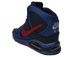 Зимние Nike Air Max 90 Skyline синие с красным - фото сзади