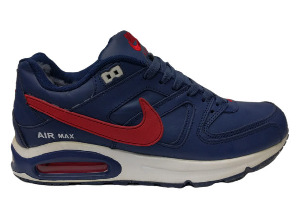 Зимние Nike Air Max 90 Skyline Low синие с красным