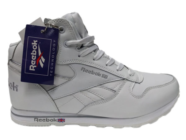 Зимние Reebok Classic Leather белые