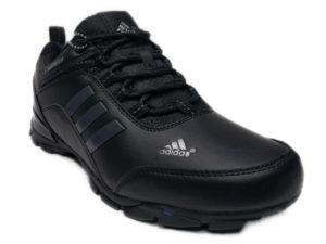 Зимние Adidas Climaproof Traxion Low черные - фото спереди