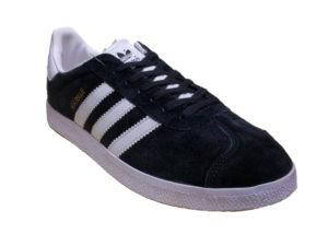 Adidas Gazelle Suede черные с белым - фото спереди