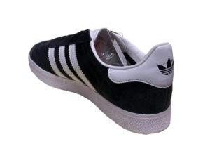 Adidas Gazelle Suede черные с белым - фото сзади