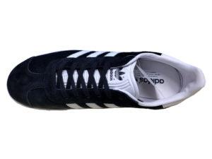 Adidas Gazelle Suede черные с белым - фото сверху