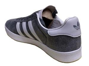 Adidas Gazelle Suede серые с белым - фото сзади