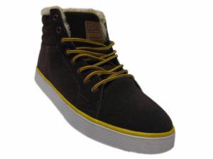 Зимние Adidas Ransom коричневые - фото спереди