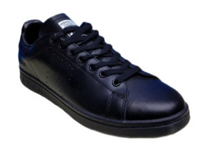 Adidas Stan Smith Leather черные - фото спереди
