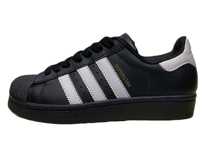 f735cfd20343 Купить Adidas Superstar черные с белым, кожаные - мужские и женские