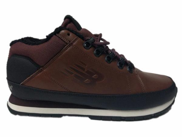 Зимние New Balance 754 Leather шоколадные с коричневым