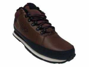 Зимние New Balance 754 Leather шоколадные с коричневым - фото спереди