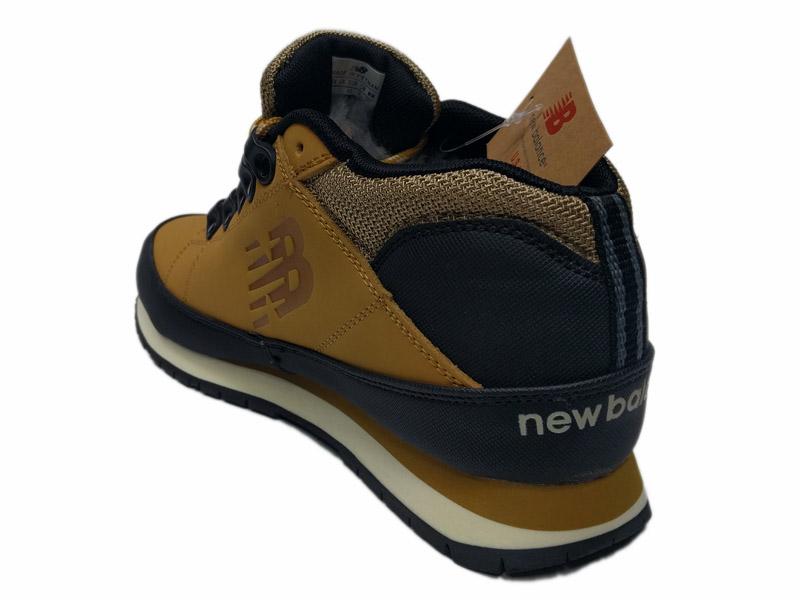 ... Зимние New Balance 754 Leather песочные с коричневым - фото сзади e1d607a80bf