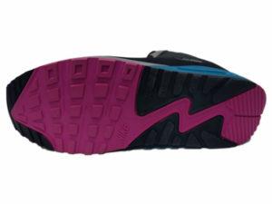 Зимние Nike Air Max 90 Mid черные с синим - фото подошвы