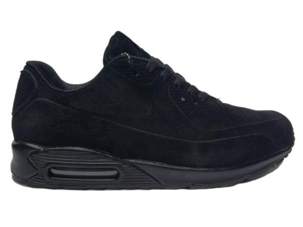 Зимние Nike Air Max 90 Suede черные