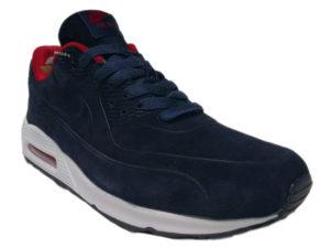 Зимние Nike Air Max 90 Suede темно-синие с белым - фото спереди