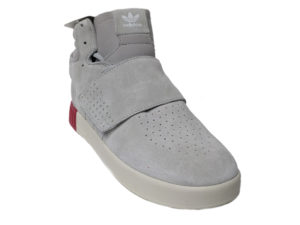 Adidas Tubular Invader Strap светло-серые замшевые
