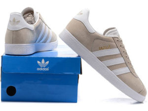 Adidas Gazelle бежевые с белым