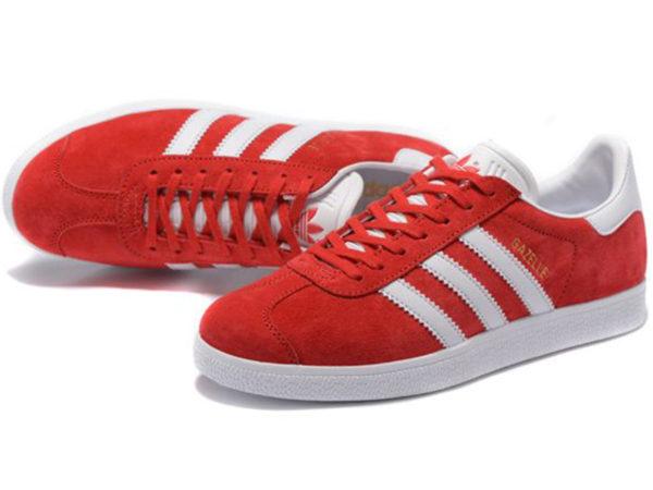 Adidas Gazelle красные с белым