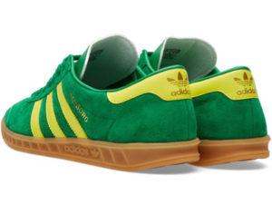 Adidas Hamburg зеленые с желтым