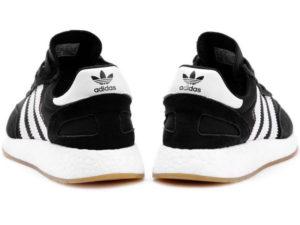 Adidas Iniki Runner Boost черные с белым